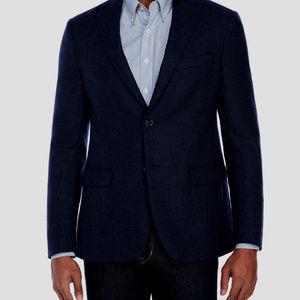 Ralph Lauren Navy Blue 100% wool Sport Coat 38 R